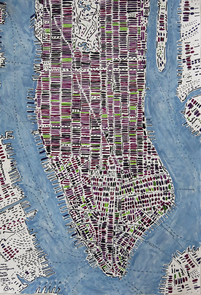 Barbara Macfarlane, Blackberry Manhattan Ink and oil on handmade paper 147 x 107 cm