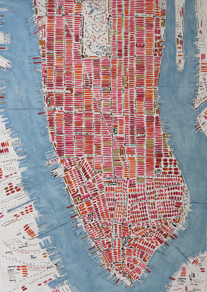 Barbara Macfarlane, Pomegranate Manhattan Ink and oil on handmade paper 147 x 107 cm